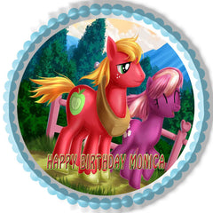 MY LITTLE PONI 4 Edible Birthday Cake Topper OR Cupcake Topper, Decor