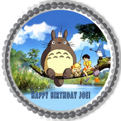 My Neighbor Totoro Edible Birthday Cake Topper OR Cupcake Topper, Decor