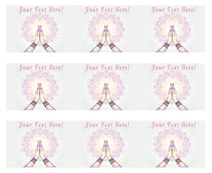 Namaste Decorated Hands Clasped - Edible Cake Topper, Cupcake Toppers, Strips
