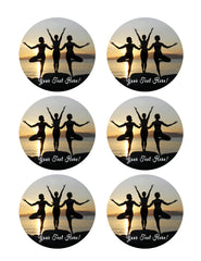 Namaste Yoga - Edible Cake Topper, Cupcake Toppers, Strips