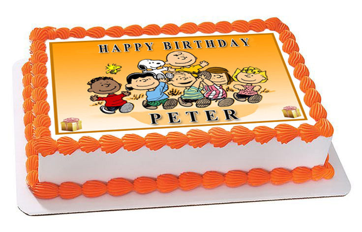 Peanuts Characters Edible Birthday Cake Or Cupcake Topper Edible