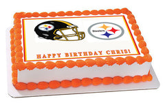 Pittsburgh Steelers Edible Birthday Cake Topper OR Cupcake Topper, Decor - Edible Prints On Cake (Edible Cake &Cupcake Topper)