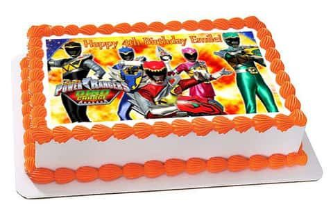 Power Rangers Dino Charge 1 Edible Birthday Cake Topper OR Cupcake Topper, Decor