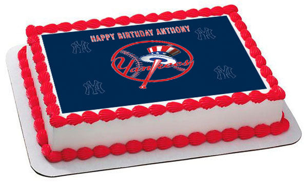 New York Yankees 1 Edible Birthday Cake Or Cupcake Toppe