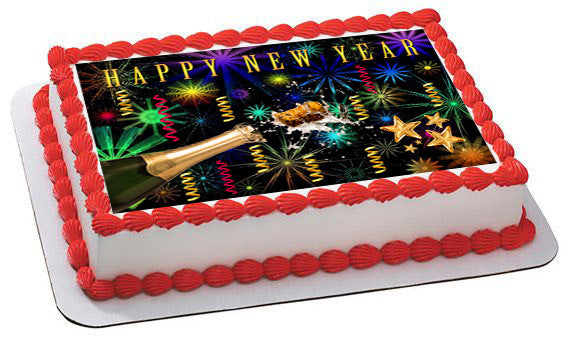 New Year Edible Cake Topper Edible Prints On Cake Epoc