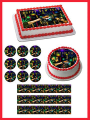 New Year Edible Birthday Cake Topper OR Cupcake Topper, Decor - Edible Prints On Cake (Edible Cake &Cupcake Topper)