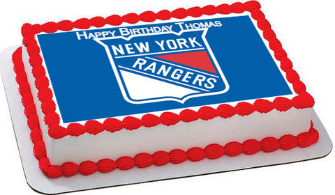 New York Rangers - Edible Cake Topper OR Cupcake Topper, Decor