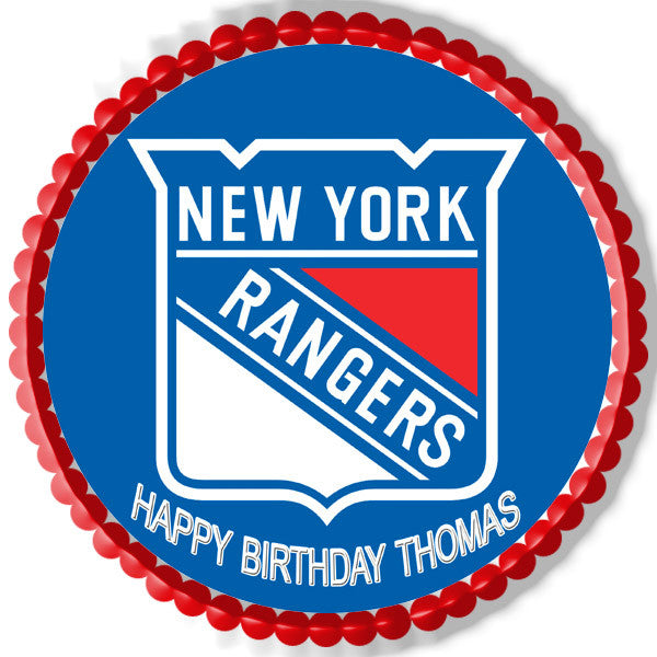 New York Rangers Edible Cake Topper & Cupcake Toppers
