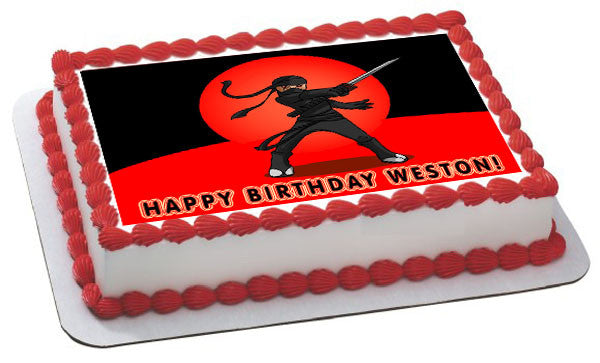 Ninja Edible Birthday Cake Or Cupcake Topper Edible