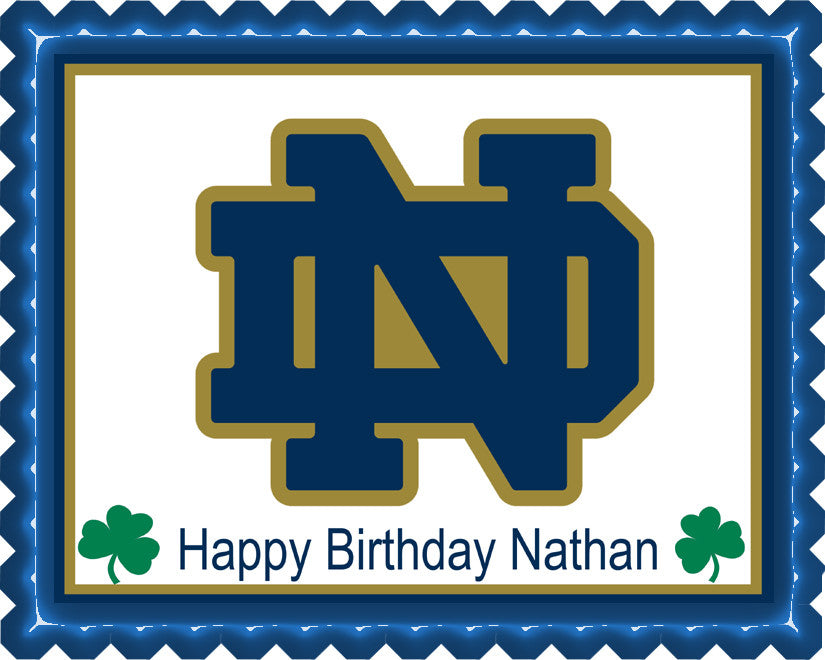 Notre Dame Fighting Irish Edible Cake Topper Or Cupcake Toppers