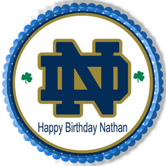 Notre Dame Fighting Irish Edible Birthday Cake Topper OR Cupcake Topper, Decor - Edible Prints On Cake (Edible Cake &Cupcake Topper)