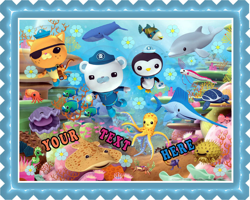 OCTONAUTS (Nr3) - Edible Cake Topper OR Cupcake Topper, Decor
