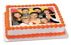 Full House Edible Birthday Cake Topper OR Cupcake Topper, Decor - Edible Prints On Cake (Edible Cake &Cupcake Topper)