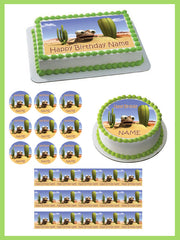 Oscar Oasis Edible Birthday Cake Topper OR Cupcake Topper, Decor