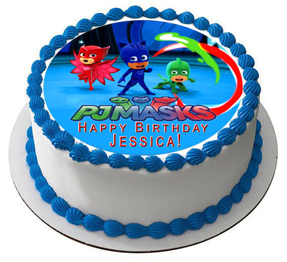 Pj Masks Nr2 Edible Cake Topper Or Cupcake Toppers