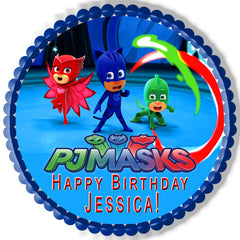 PJ MASKS (Nr2) - Edible Cake Topper OR Cupcake Topper, Decor