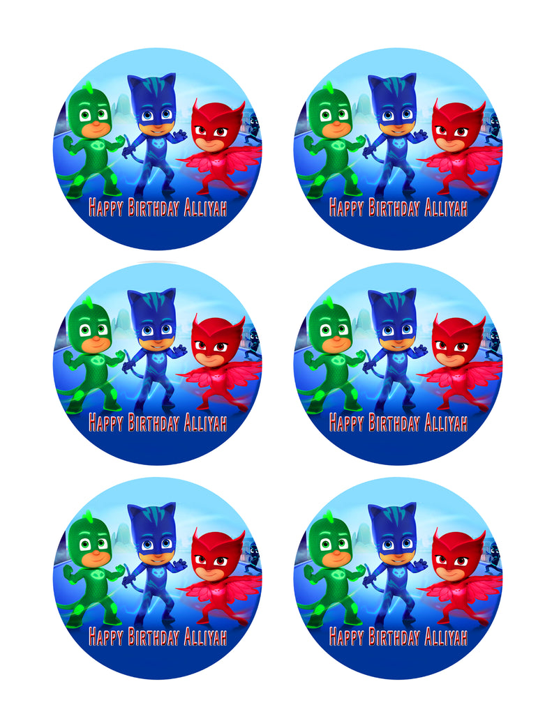 Pj Masks Nr1 Edible Cake Topper Or Cupcake Toppers