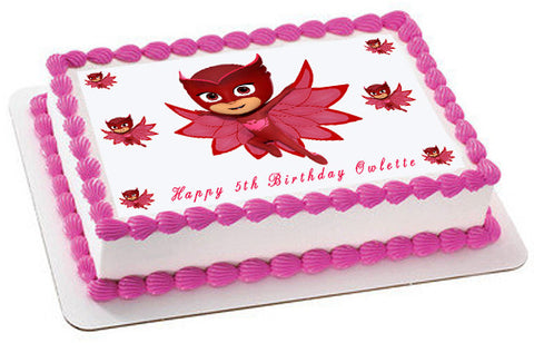 PJ MASKS (Nr4) Owlette - Edible Cake Topper OR Cupcake Topper, Decor