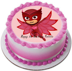 PJ MASKS 4 Owlette Edible Birthday Cake Topper OR Cupcake Topper, Decor - Edible Prints On Cake (Edible Cake &Cupcake Topper)