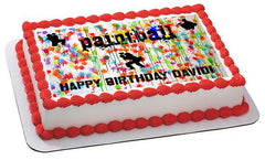PAINTBALL Splatter Laser Tag Paint Party - Edible Cake Topper OR Cupcake Topper, Decor