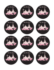 Paris (Nr2) - Edible Cake Topper, Cupcake Toppers, Strips