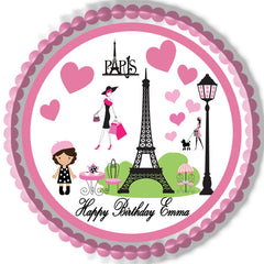 Paris - Edible Cake Topper OR Cupcake Topper, Decor
