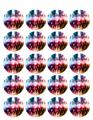 Party People - Edible Cake Topper, Cupcake Toppers, Strips