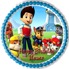 Paw Patrol (Nr2) - Edible Cake Topper OR Cupcake Topper, Decor