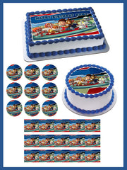 Paw Patrol HERO - Edible Cake Topper OR Cupcake Topper, Decor