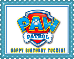 Paw Patrol (Nr4) - Edible Cake Topper OR Cupcake Topper, Decor