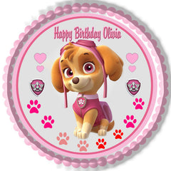 PAW PATROL SKYE (Nr4) - Edible Cake Topper OR Cupcake Topper, Decor