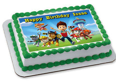 Paw Patrol 3 Edible Birthday Cake Topper OR Cupcake Topper, Decor