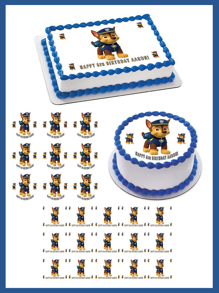 Paw Patrol 1 Edible Birthday Cake Topper OR Cupcake Topper, Decor