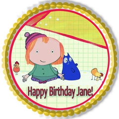 Peg + Cat Edible Birthday Cake Topper OR Cupcake Topper, Decor