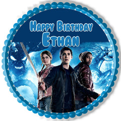 Percy Jackson 2 Edible Birthday Cake Topper OR Cupcake Topper, Decor - Edible Prints On Cake (Edible Cake &Cupcake Topper)
