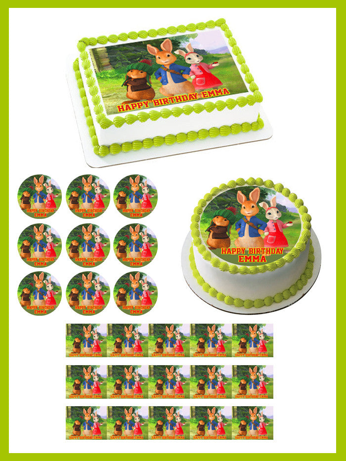 Peter Rabbit Edible Birthday Cake Topper OR Cupcake Topper, Decor - Edible Prints On Cake (Edible Cake &Cupcake Topper)
