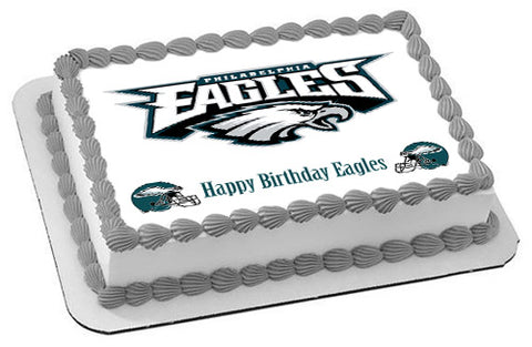 Philadelphia Eagles - Edible Cake Topper OR Cupcake Topper, Decor