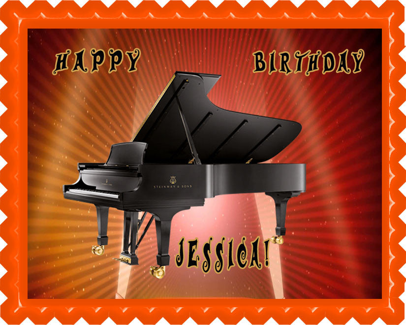 Piano Steinway & Sons - Edible Cake Topper OR Cupcake Topper, Decor