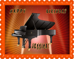 Piano Steinway & Sons Edible Birthday Cake Topper OR Cupcake Topper, Decor