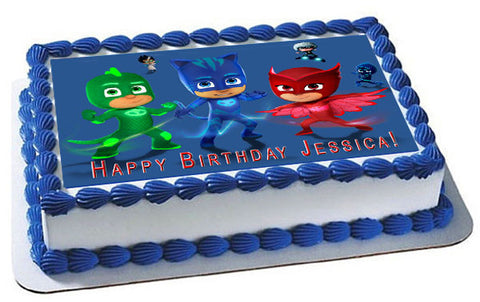 PJ Masks (Nr5) - Edible Cake Topper OR Cupcake Topper, Decor
