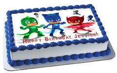 PJ Masks (Nr6) - Edible Cake Topper OR Cupcake Topper, Decor