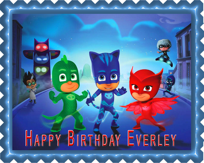 PJ MASKS 1 Edible Cake Topper Cupcake Toppers Edible Prints On
