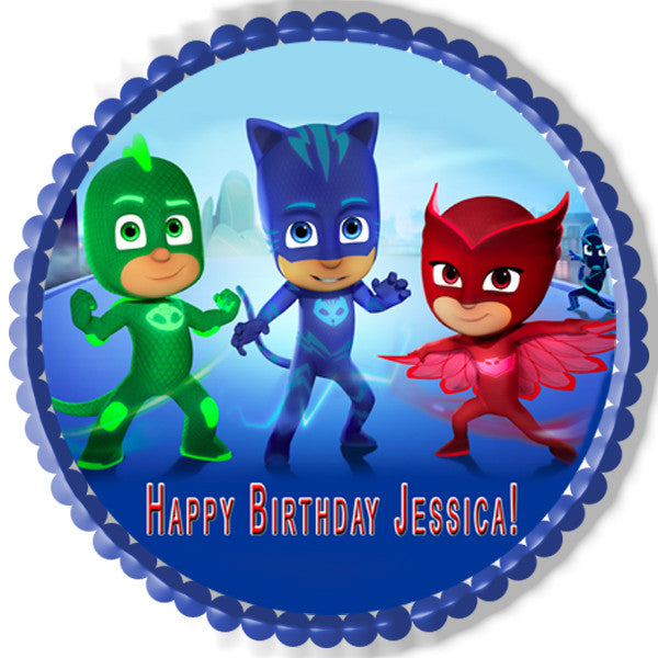 Pj Masks 1 Edible Cake Topper Amp Cupcake Toppers Edible