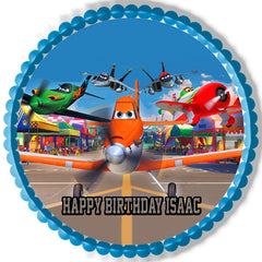 Planes Edible Birthday Cake Topper OR Cupcake Topper, Decor - Edible Prints On Cake (Edible Cake &Cupcake Topper)