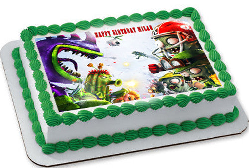 Plants Vs Zombies 3 Edible Cake Topper Amp Cupcake Toppers