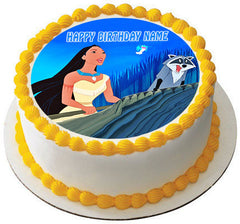 POCAHONTAS Edible Birthday Cake Topper OR Cupcake Topper, Decor