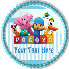 Pocoyo Edible Birthday Cake Topper OR Cupcake Topper, Decor