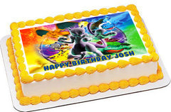 Pokemon Stadium Edible Birthday Cake Topper OR Cupcake Topper, Decor - Edible Prints On Cake (Edible Cake &Cupcake Topper)
