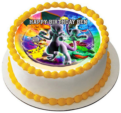 Edible Cake Images Review : Pokemon Stadium Edible Cake Topper & Cupcake Toppers ...