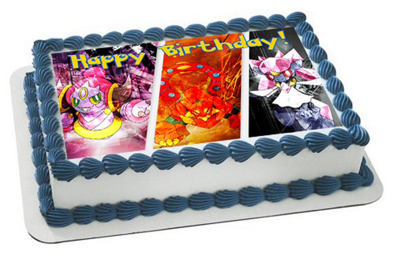 Pokemon Edible Birthday Cake Topper Edible Prints On Cake Epoc